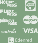 accepted cards and vouchers